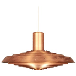 Copper Pavillion Pendant Lamp by Poul Henningsen