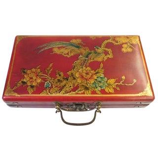 Chinese Red Rectanuglar Box & Abacus