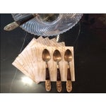 Image of Antique Siam Brass Serving Fork & Three Spoons