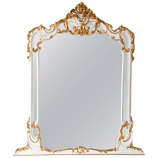Louis XV Style White and Gold Mirror