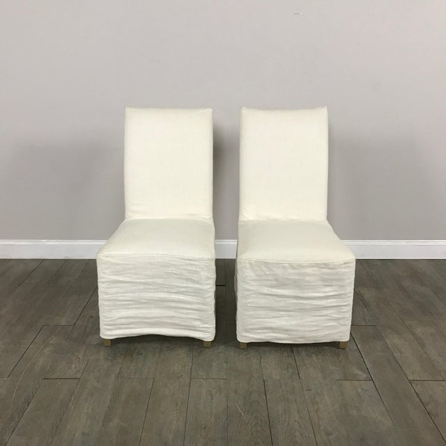 Slipcover Dining Chairs - A Pair - Image 2 of 7