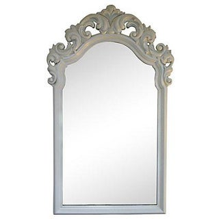 Vintage Cast Resin White Mirror