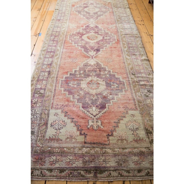 "Distressed Oushak Runner - 4'4"" x 11'9"" - Image 3 of 8"