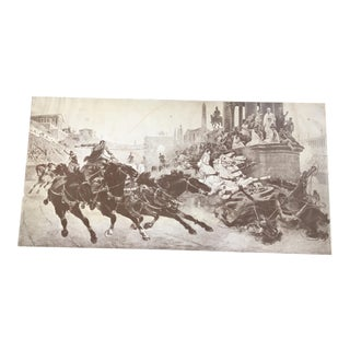 Manz Engraving Co Ulpiano Checa Chariot Print