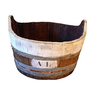 Antique French Wine Harvest Bucket