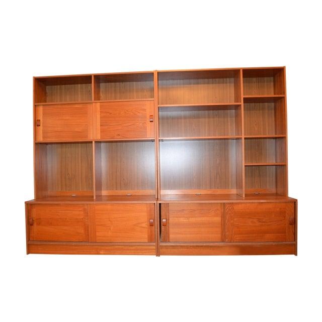 2-Piece Danish Modern Bookcase - Image 1 of 10