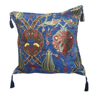Kilim Pattered Blue Pillow Cover