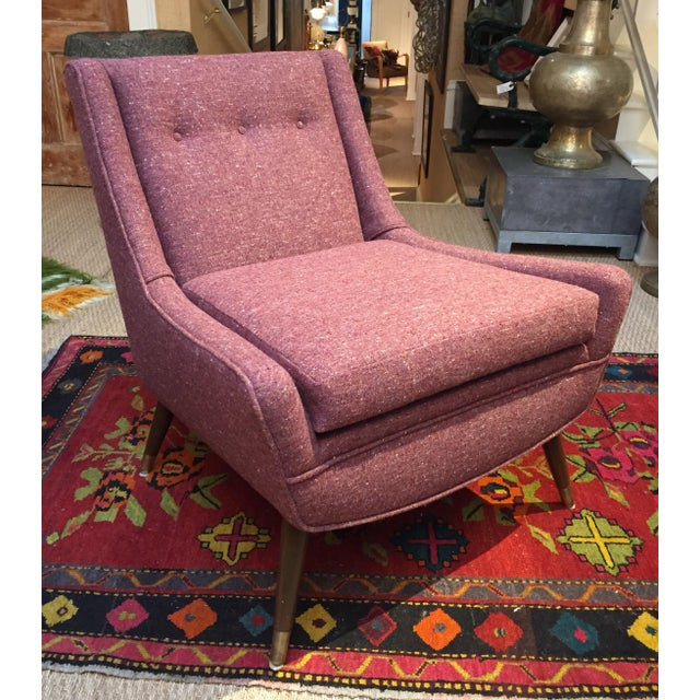 1950's Pink Modernist Lounge Chairs - A Pair - Image 3 of 6