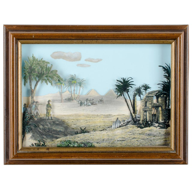 Napoleon Egypt Expedition 3D Paper Shadowbox Diorama - Image 1 of 5