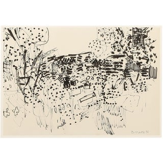 1958 Composition Ink Drawing