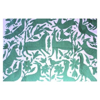 Green Forest Otomi Textile