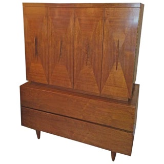 American of Martinsville Style Mid-Century Modern Highboy