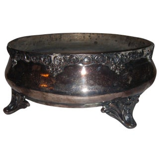 Ornate Silve-Plate Plant Bowl