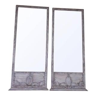 French Louis XVI Trumeau Mirrors - A Pair
