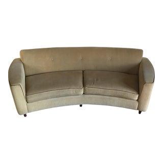 Vintage Modern Curved Sofa
