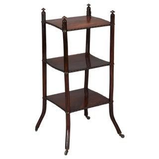 English Regency Three-Tiered Side Table