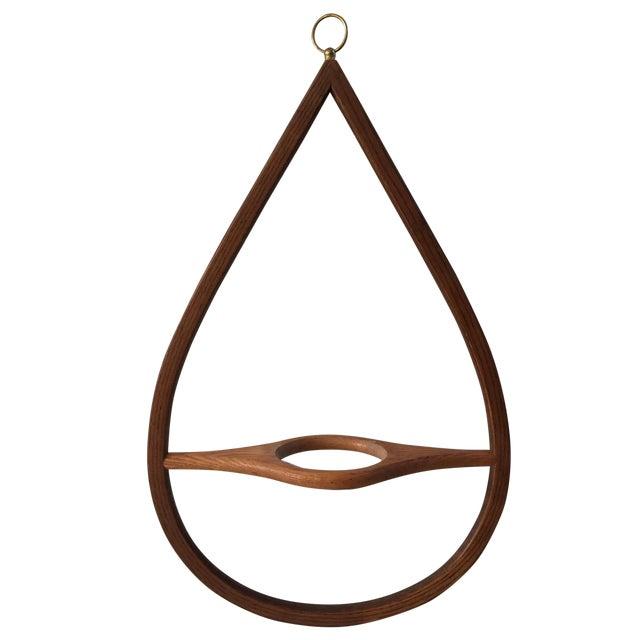 Mid-Century Modern Wood Hanging Planter  Chairish