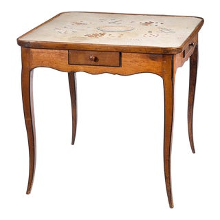 Louis XV Provincial Walnut Games Table
