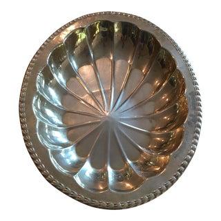 Mid-Century Solid Brass Oblong Starburst Bowl