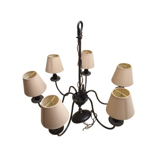 Traditional 6-Light Chandelier with Lampshades