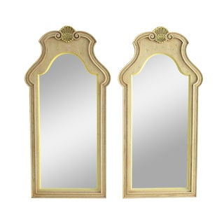 French Style Carved Wall Mirrors - A Pair