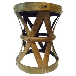 Boho Moroccan Style Brass Foot Stool