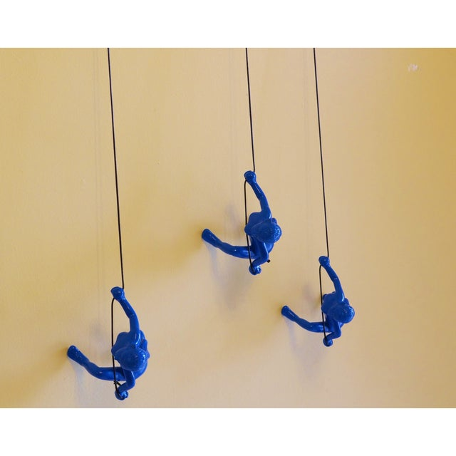 Blue Climbing Girls Wall Art - Set of 3 - Image 3 of 6