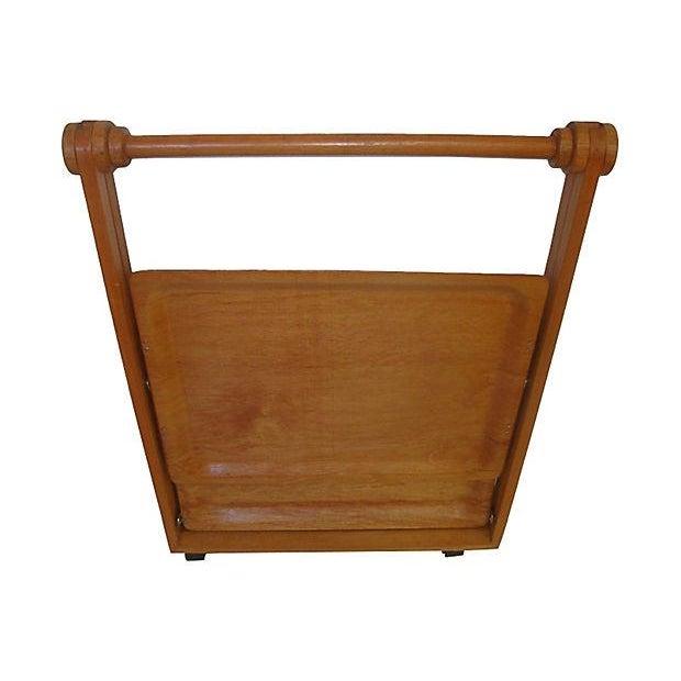 Image of Danish Mid-Century Modern Folding Teak Bar Cart