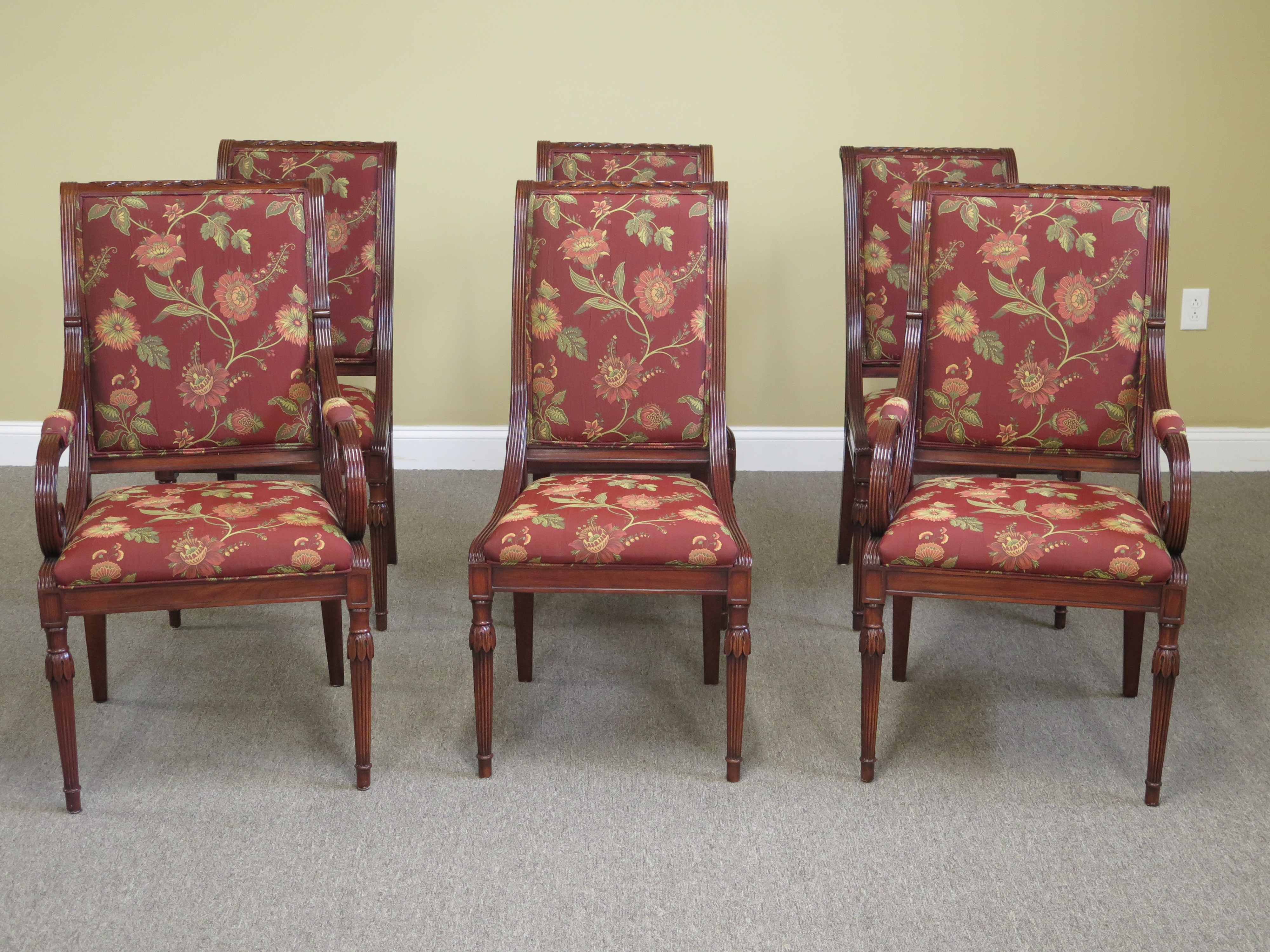 Karges Regency Style Dining Room Chairs Set of 6 Chairish