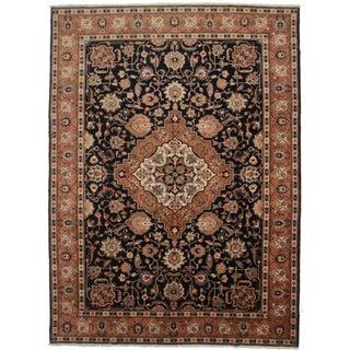Vintage Wool Persian Tabriz Rug - 9′3″ × 12′9″