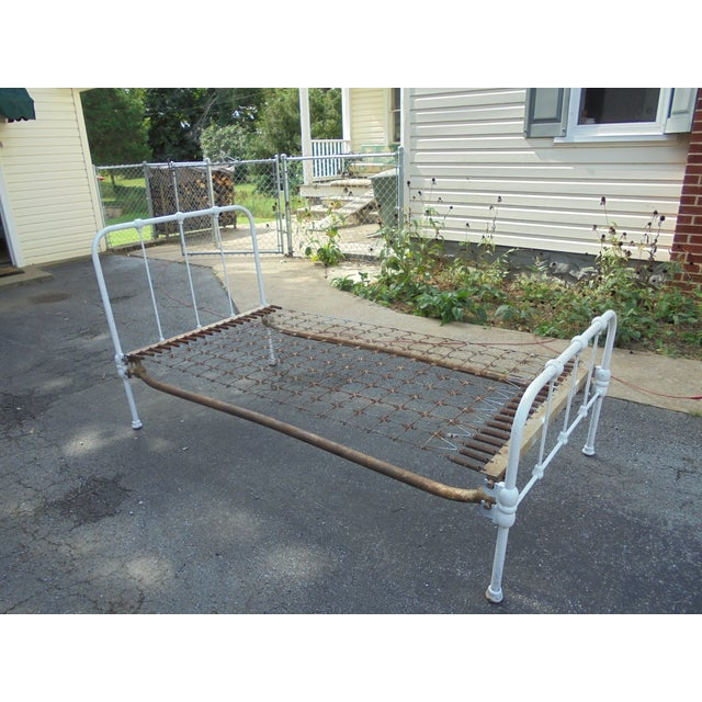 Vintage Iron Twin Bed - Image 7 of 8