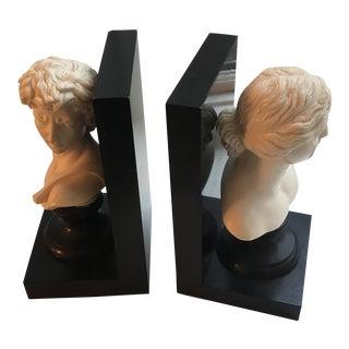 Italian Renaissance Bust Bookends - A Pair
