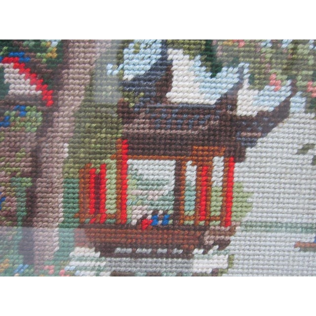 Oriental Asian Teahouse on the Lake Needlepoint - Image 9 of 11