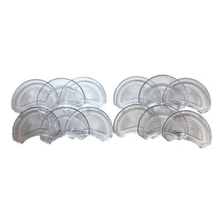 Val Saint-Lambert Italian Crystal Crescent Dishes - Set of 12