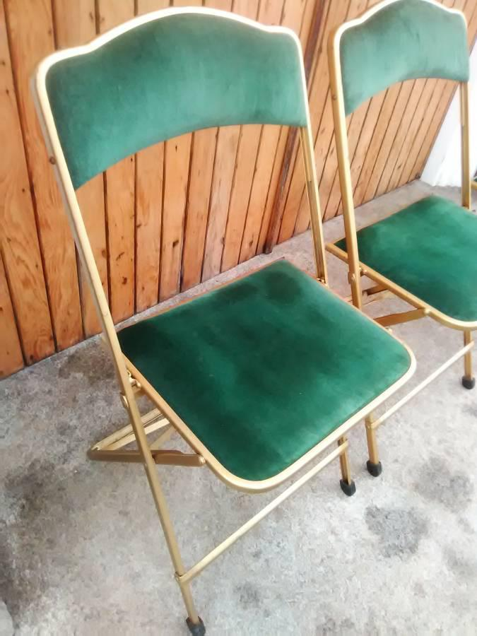 fritz folding chairs price. vintage a. fritz \u0026 co. green velvet folding chairs - set of 6 price a