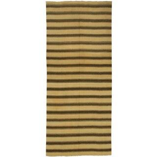 Vintage Hand Woven Turkish Kilim Rug - 4'9 X 10'10
