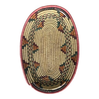 Vintage Southwestern Coiled Basket Tray