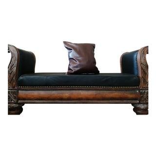 Gambrell Renard Dark Brown Leather Pillow