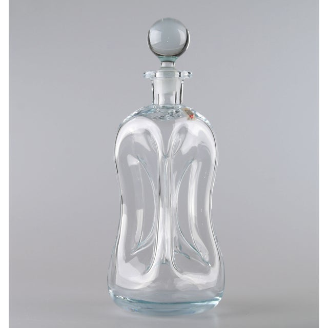 Holmegaard Kluk Kluk Hand Blown Glass Decanter - Image 3 of 9