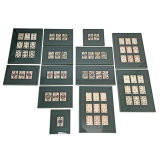 Framed Piatnik Playing Cards Collection - Set of 13