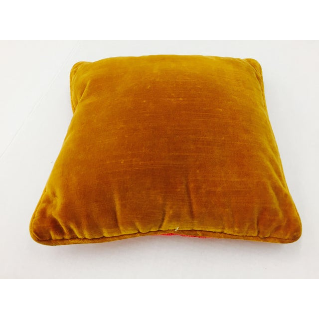 "Vintage Needlepoint ""Leo"" Lion Pillow - Image 6 of 7"
