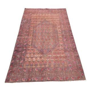 Distressed Vintage Anatolian Rug - 4′2″ × 7′1″
