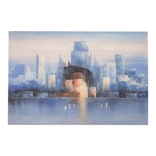 Urban Cityscape Skyline Painting by Bonsall
