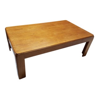 Vintage Niels Eilersen Mid-Century Danish Solid Teak Coffee Table