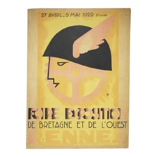1929 Fiore Exposition De Rennes (France) Print on Canvas