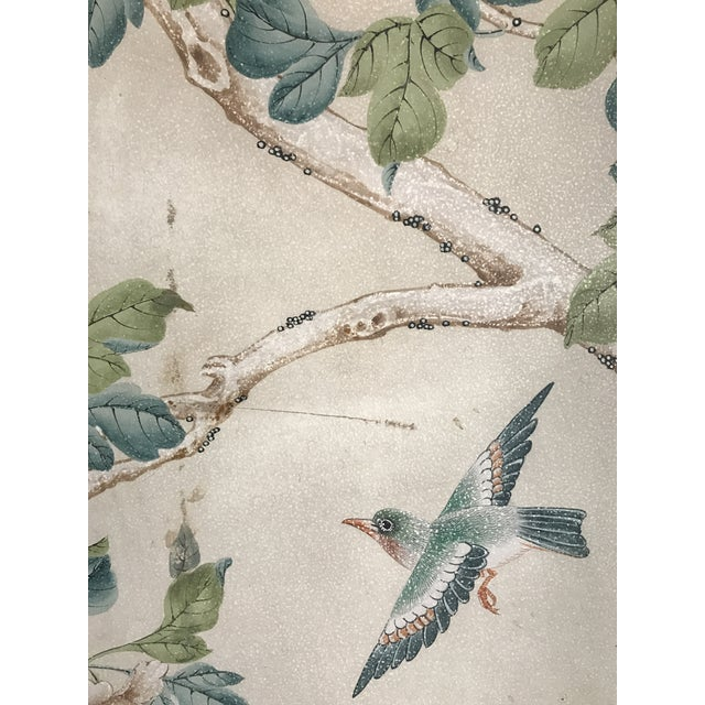 Gracie Chinoiserie 4 Panel Wallpaper Screen - Image 7 of 11
