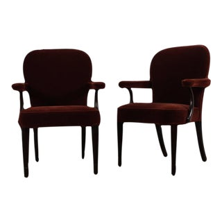 Pair of Dunbar Armchairs by Edward Wormley