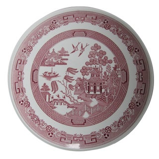 Spode Cranberry Willow Cake Plate