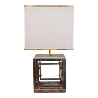 Romeo Rega Brass & Chrome Table Lamp