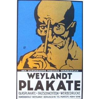 "1927 ""Weylandt"" Lithographic Mini Poster"